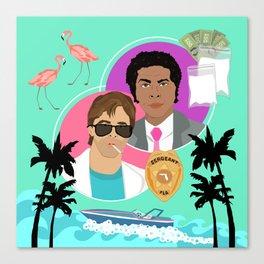 Miami Vice: Crockett and Tubbs Canvas Print