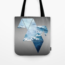 Fragmented Clouds Tote Bag