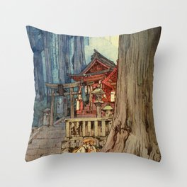 A Misty Day In Nikko - Digital Remastered Edition Throw Pillow