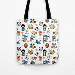Lucky Japan Doodle Tote Bag