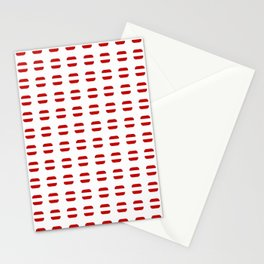 flag of latvia 3 with soft square Stationery Cards