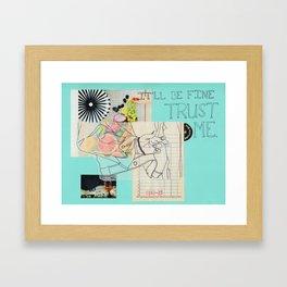 empty promises Framed Art Print