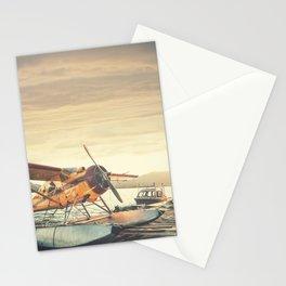 Floatplane in Sunset Stationery Cards