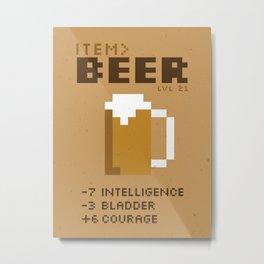 Item Beer Equipped Metal Print