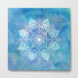 Mandala blue Metal Print