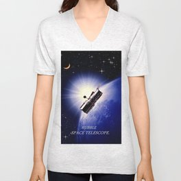 HUBBLE SPACE TELESCOPE. Unisex V-Neck