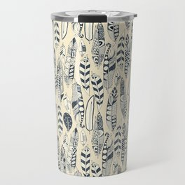 joyful feathers cream Travel Mug