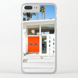 Mid Century Orange Clear iPhone Case