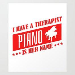Piano Pianist Music Teacher Jazz Blues Art Print