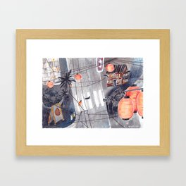 Just two of us in Japan Framed Art Print