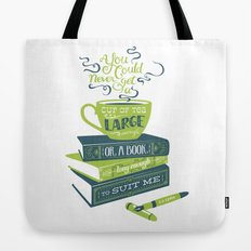Tea & Books (C.S Lewis) - green/blue Tote Bag