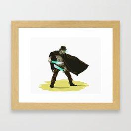 Robo-Western Framed Art Print
