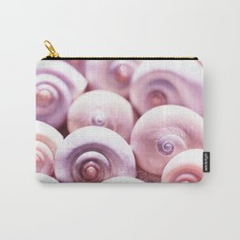 Dream of last summer I - Animal Snail Shells in pink on #Society6 Carry-All Pouch