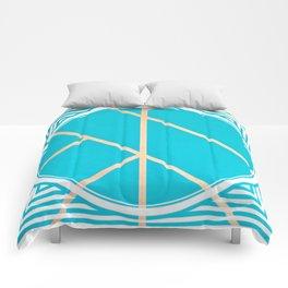Leaf - circle/line graphic Comforters