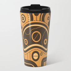 Fox Face Travel Mug Nonsensical Doodle #3 Travel Mug ...