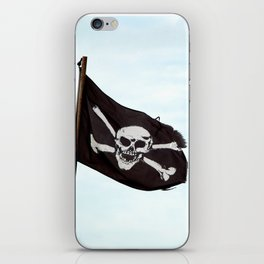 Jolly Roger pirate flag iPhone Skin