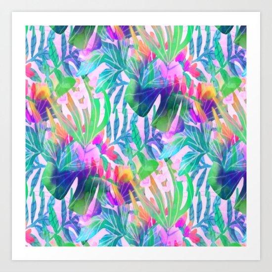 Pink Hawaiian  Art Print