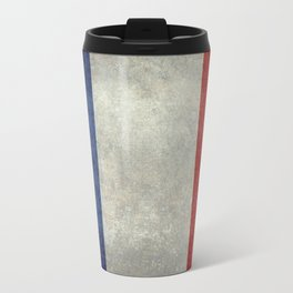 French Flag with vintage textures Travel Mug