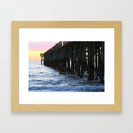Flagler Pier Framed Art Print