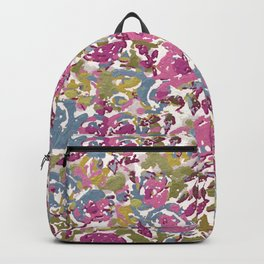 Painted Abstract Florals Backpack