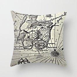 Map of Treasure Island (1883) Throw Pillow