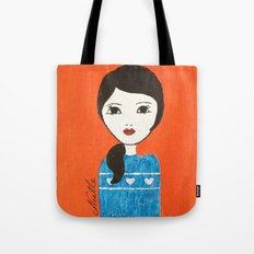 Blue Sweater Tote Bag