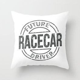 future Racecar driver Throw Pillow