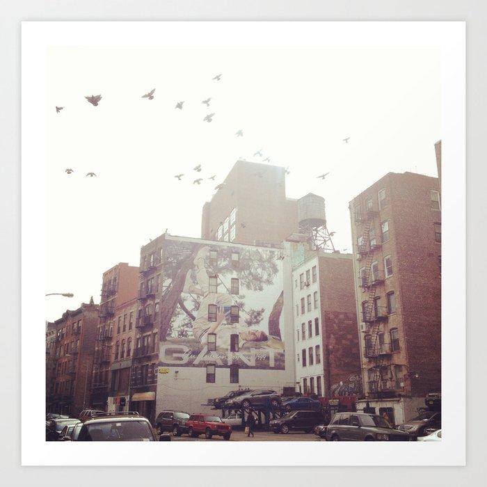 Birds Over Soho Art Print