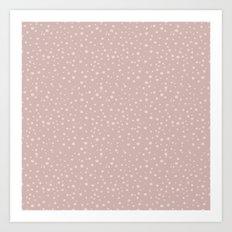 PolkaDots-Peach on Rose Art Print