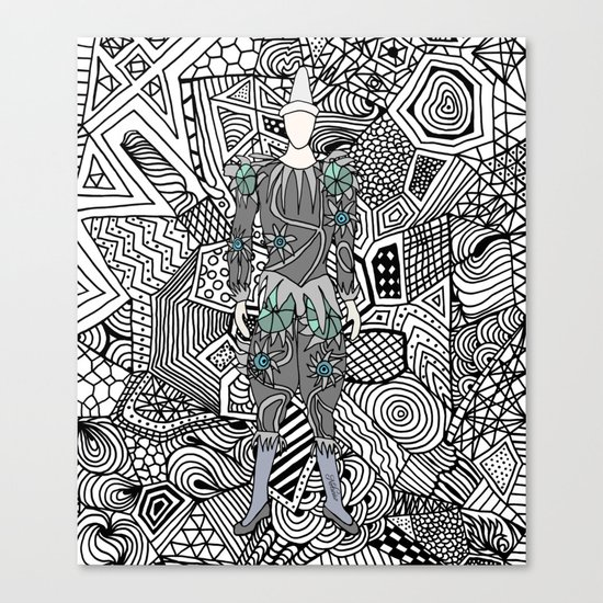 Bowie Fashion 5 Canvas Print