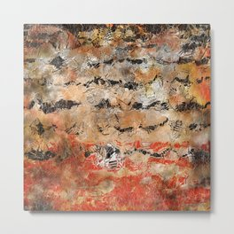abstract with orange and black Metal Print