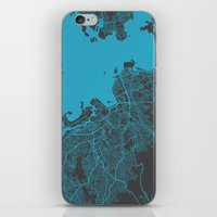 rio iPhone & iPod Skins featuring Rio by Map Map Maps