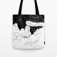storm Tote Bags featuring Storm by  Louie