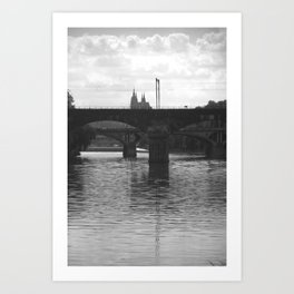 Bridges on Vltava Art Print