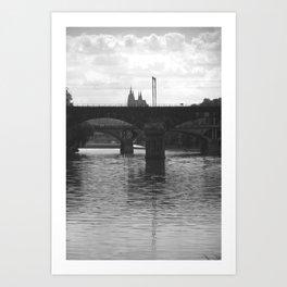 Bridges on Vltava Art Print