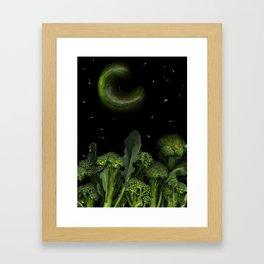 Moon over Broccoli Framed Art Print