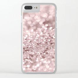 Sparkling Rose Gold Blush Glitter #1 #shiny #decor #art #society6 Clear iPhone Case
