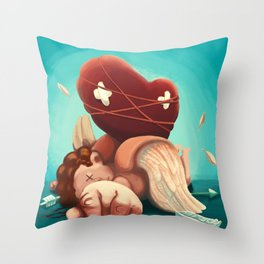 I killed Cupid Throw Pillow