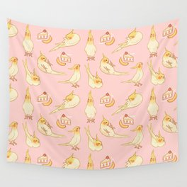 Pied Cockatiels all-over Wall Tapestry
