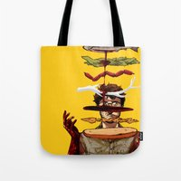 will graham Tote Bags featuring The Graham Brand by Zenyr