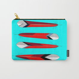 Horizontal Desert Feathers, Southwestern Design Carry-All Pouch