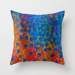 Burning Textile Drops Throw Pillow