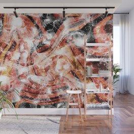 Orange gemstone glitter Wall Mural