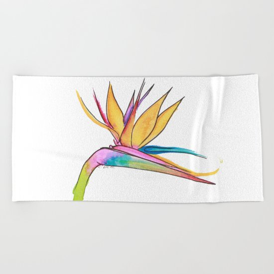 Oiseau du paradis Beach Towel
