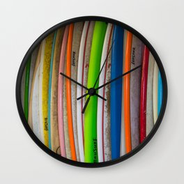 Surfboards For Rent Wall Clock