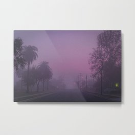 Early Morning Hazy Street Metal Print