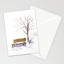 Snowy sunrise Stationery Cards
