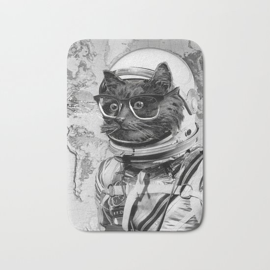 Space Kitten Bath Mat