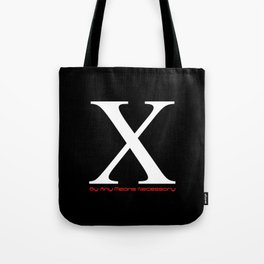X - By Any Means Necessary Malcolm X Motif Tote Bag