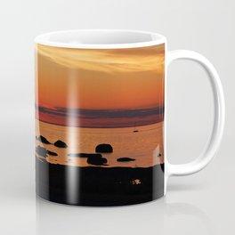 Split Sun Sunset on the Sea Coffee Mug